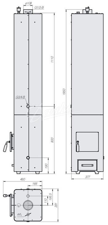 Колонка водогрейная Данко КВЦ-90. Фото 2