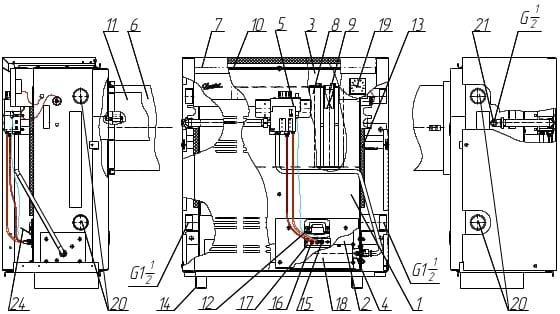 Конструкція котла Данко 7У-18У